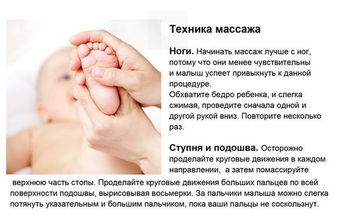 Как сделать массаж на ноги ребенку